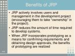 benefits of jrp