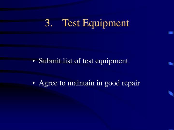 3.Test Equipment