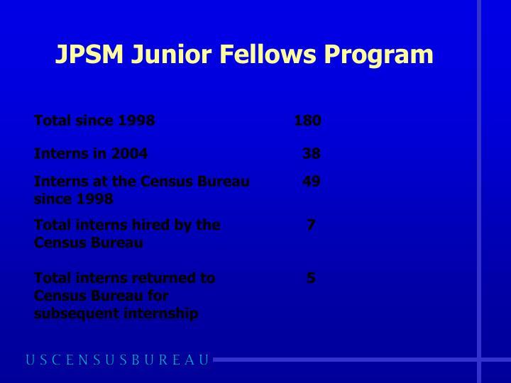 JPSM Junior Fellows Program