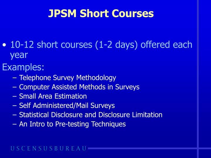 JPSM Short Courses