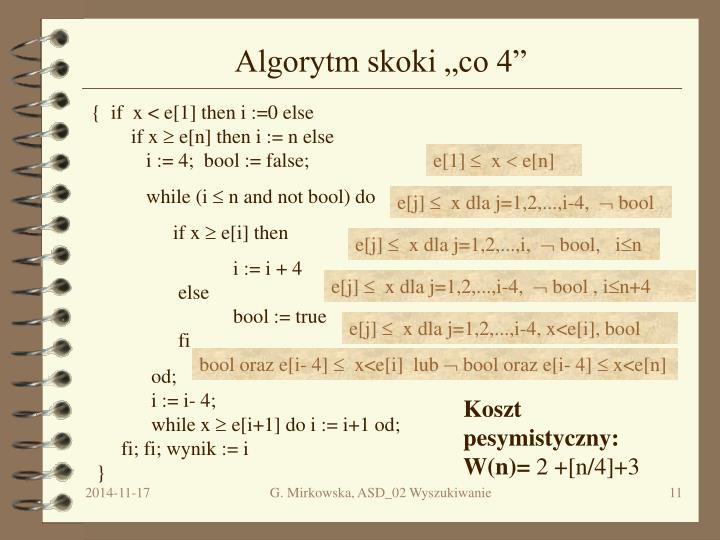 "Algorytm skoki ""co 4"""