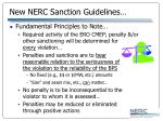 new nerc sanction guidelines