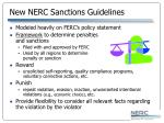 new nerc sanctions guidelines