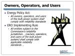 owners operators and users