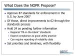 what does the nopr propose