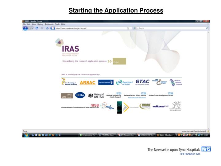 Starting the Application Process
