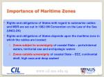 importance of maritime zones