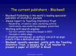 the current publishers blackwell