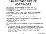 3 basic theories of mortgages