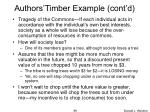 authors timber example cont d1