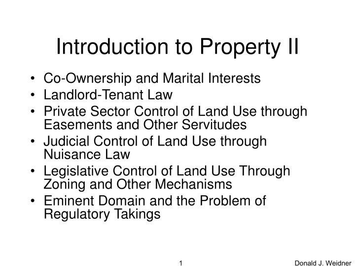 introduction to property ii n.
