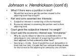 johnson v hendrickson cont d2