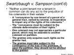 swartzbaugh v sampson cont d1