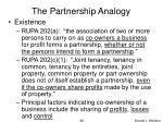 the partnership analogy
