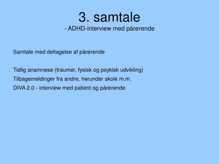 3. samtale