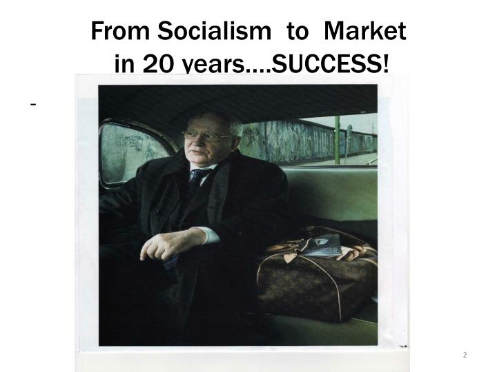 From socialism to market in 20 years success