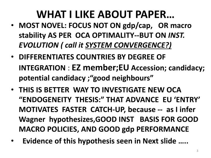 WHAT I LIKE ABOUT PAPER…
