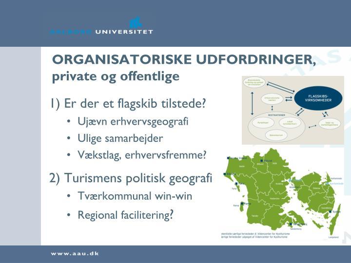 ORGANISATORISKE UDFORDRINGER, private og offentlige