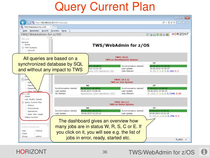Query Current Plan