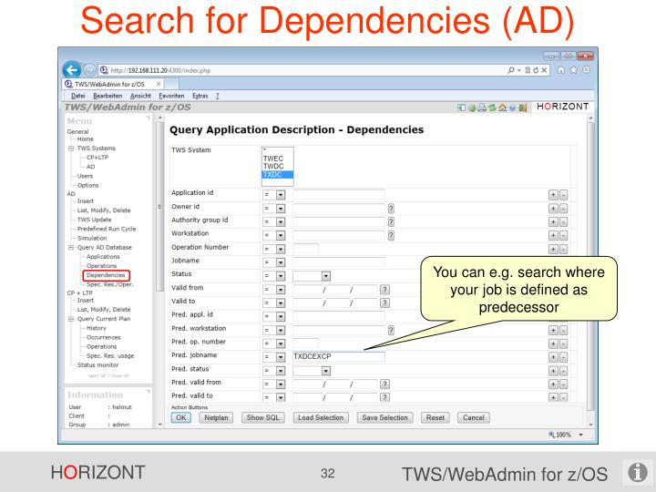 Search for Dependencies (AD)
