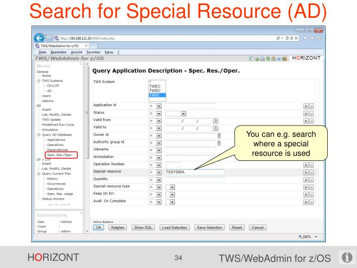 Search for Special Resource (AD)
