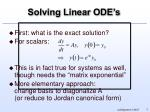 solving linear ode s