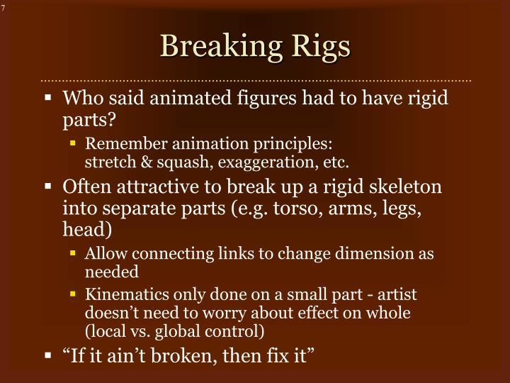 Breaking Rigs