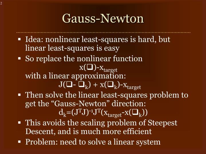Gauss newton