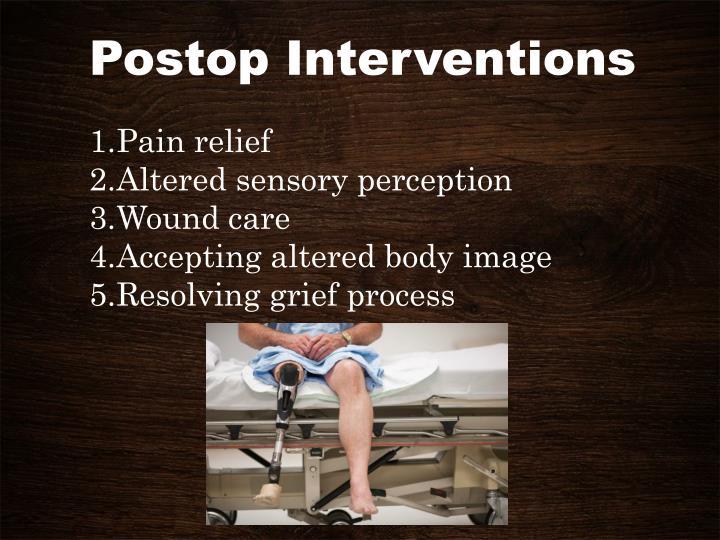 Postop Interventions