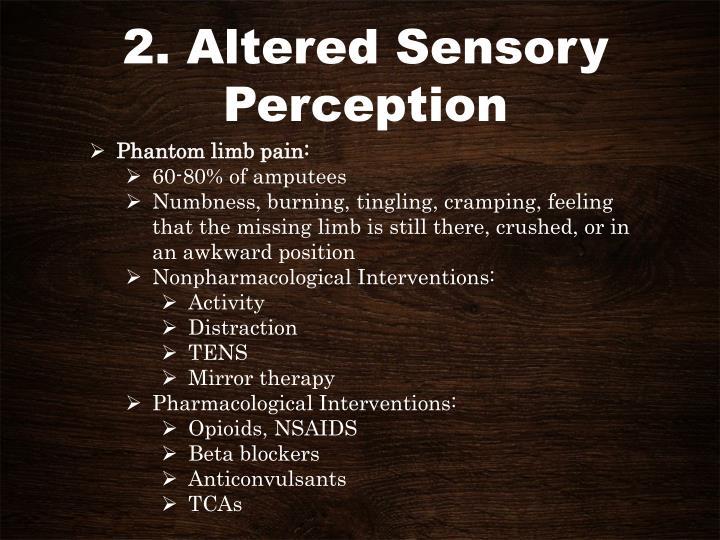 2. Altered Sensory Perception