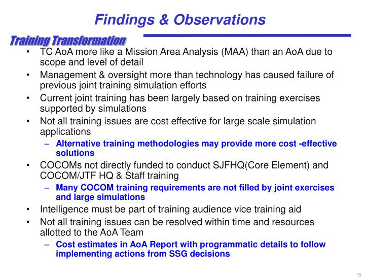 Findings & Observations