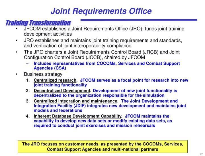 Joint Requirements Office