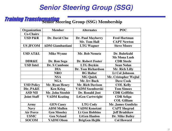Senior Steering Group (SSG)