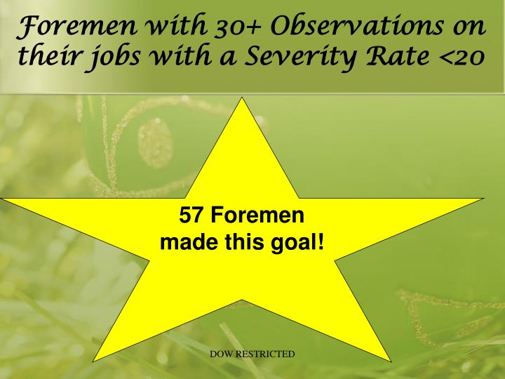 Foremen with