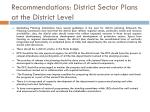 recommendations district sector plans at the district level