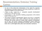 recommendations extension training centres