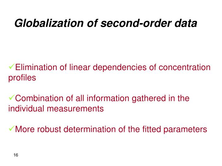 Globalization of second-order data