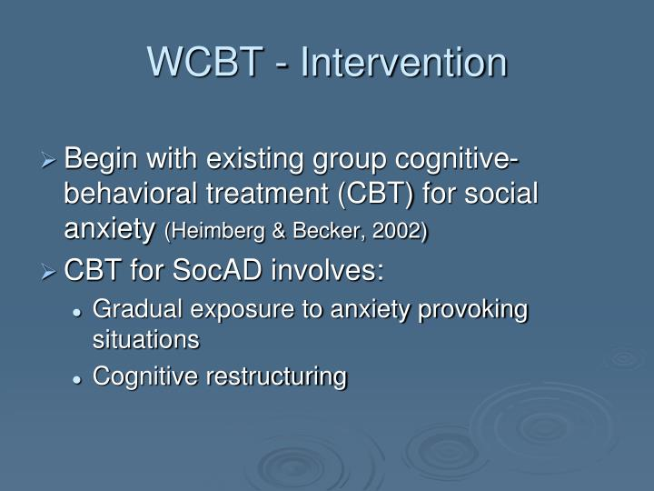 WCBT - Intervention