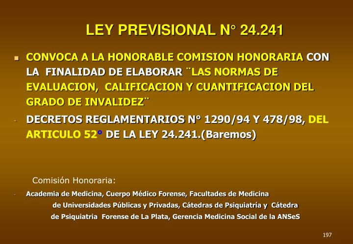 LEY PREVISIONAL N° 24.241