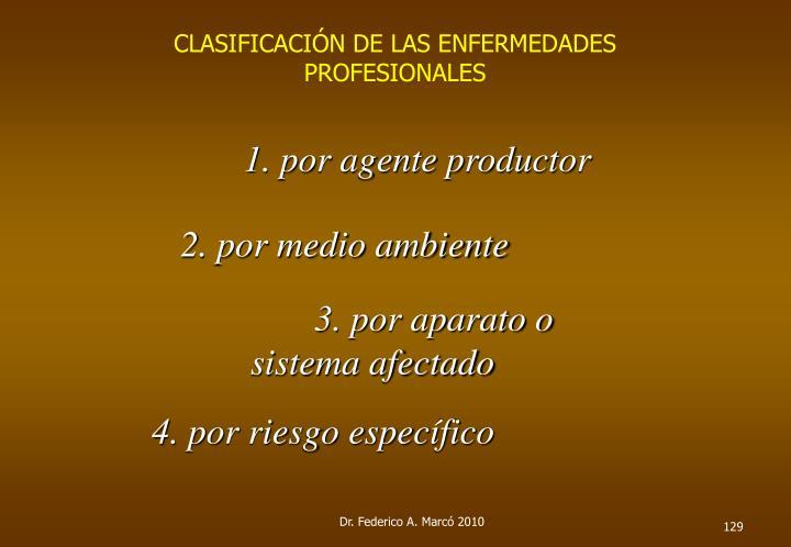 CLASIFICACIÓN DE LAS ENFERMEDADES PROFESIONALES