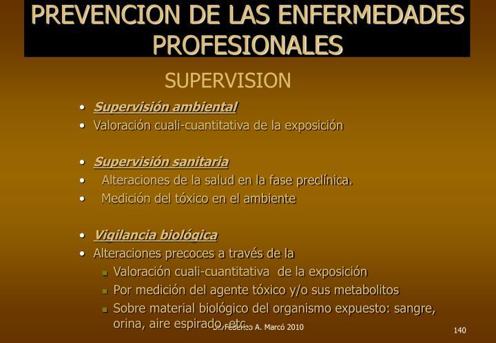 PREVENCION DE LAS ENFERMEDADES PROFESIONALES