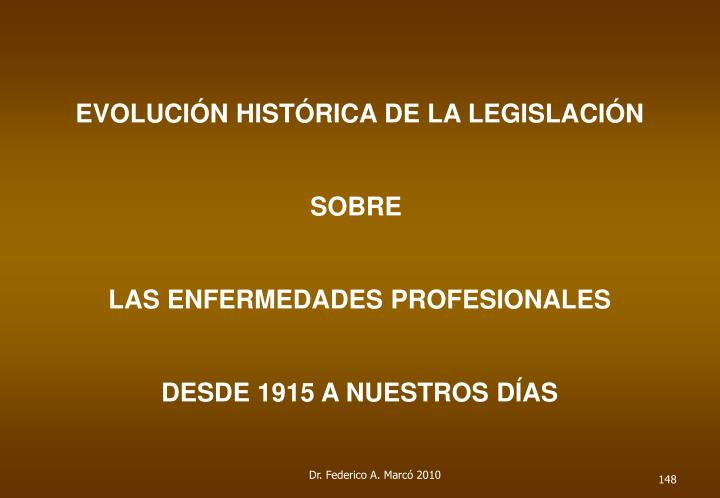 EVOLUCIÓN HISTÓRICA DE LA LEGISLACIÓN