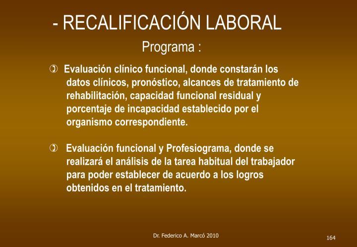 - RECALIFICACIÓN LABORAL