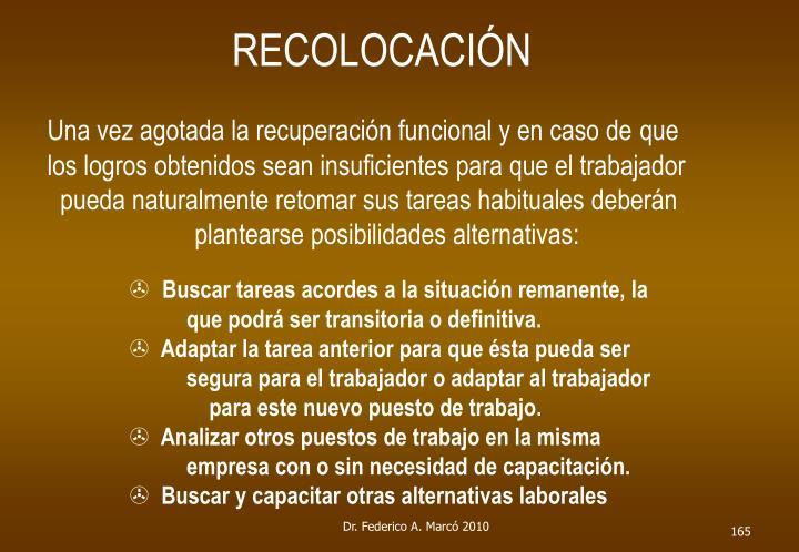 RECOLOCACIÓN