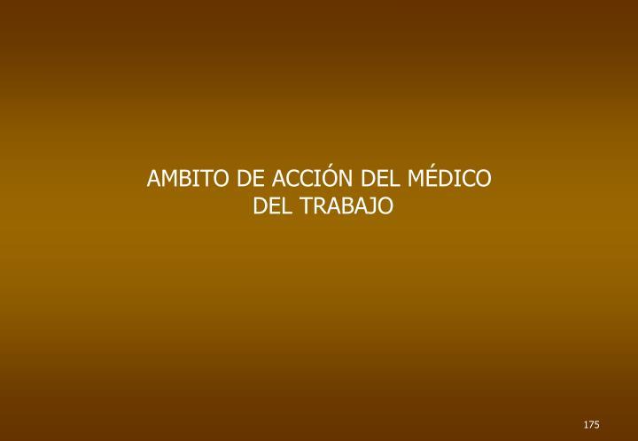 AMBITO DE ACCIÓN DEL MÉDICO