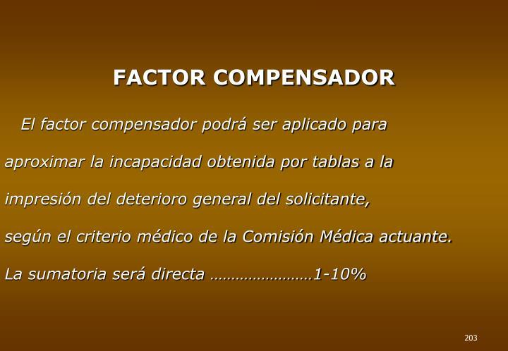 FACTOR COMPENSADOR
