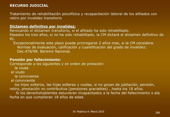 RECURSO JUDICIAL