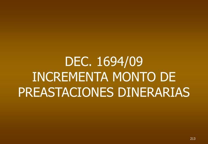 DEC. 1694/09