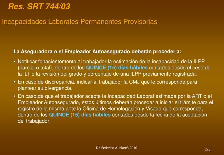Res. SRT 744/03
