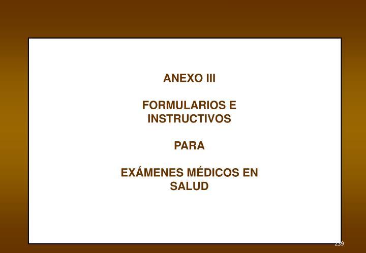 ANEXO III
